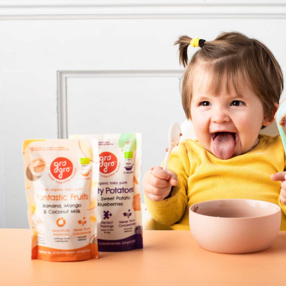 Gro Gro Cold Pressed Baby Food Packaging Design